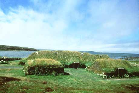 Sod building replicas at L'Anse aux Meadows