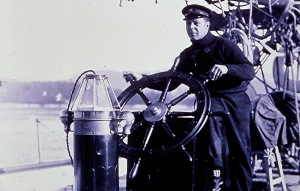 John Bordon behind the wheel in 1913
